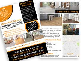 flyer design dorchester dorset